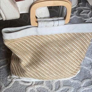 Tote Raffia & leather